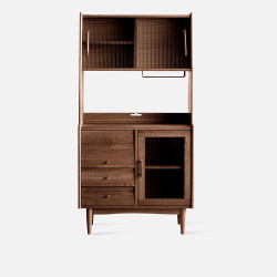 NADINE Cupboard L85, Dark Walnut