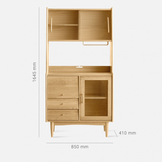 NADINE Cupboard L85, Oak