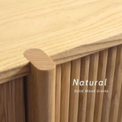 Shelf with Rattan Door L90