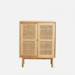 SEN RATTAN Shoe Cabinet V.2, Ash, L90