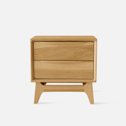 Handle Bed Side Table - Oak