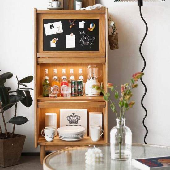 NADINE Blackboard Cabinet W80, Cherry Wood