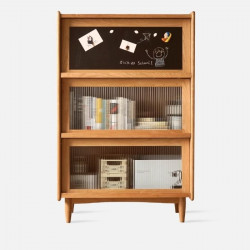 NADINE Blackboard Cabinet W60, Cherry Wood