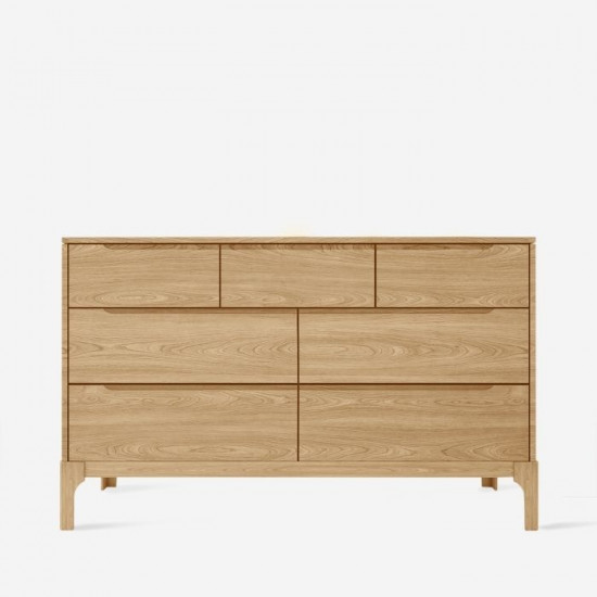 DANA Chest of Drawers W125, Oak