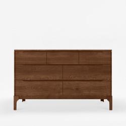 DANA Chest of Drawers W125, Walnut brown
