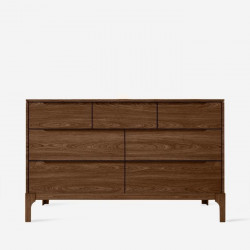 DANA Chest of Drawers W125, Walnut