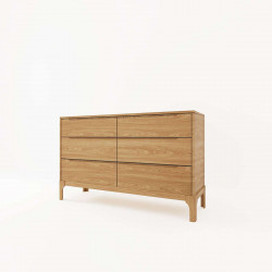 DANA Chest of Drawers 6D, W125, Oak