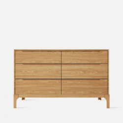 DANA Chest of Drawers 6D, W125, Oak