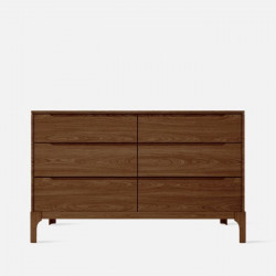 DANA Chest of Drawers 6D, W125, Walnut