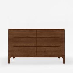 DANA Chest of Drawers 6D, W125, Walnut brown