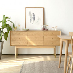 OAKI Chest of Drawers 9, Oak, L150