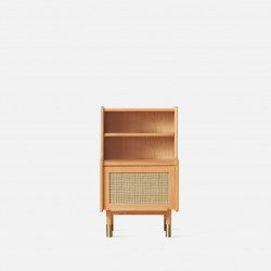 RATTAN Little Bookshelf H83, Cherry Wood
