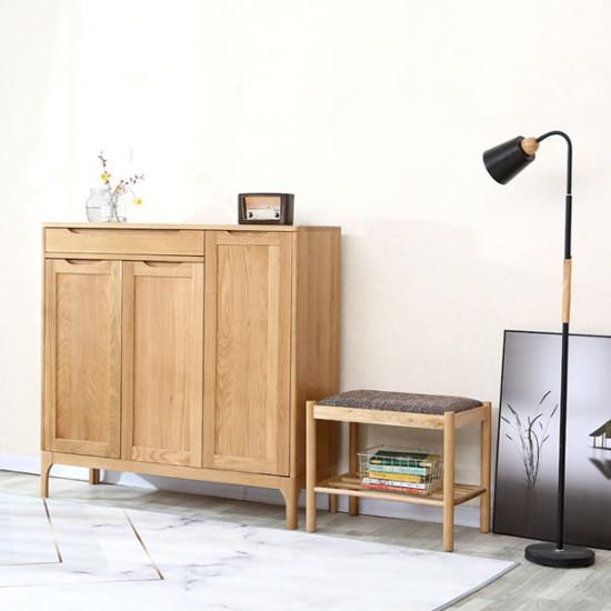 DANA Shoe Cabinet, 3-Door, Oak