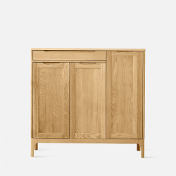 DANA Shoe Cabinet, 3-Door, W110, Oak