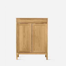 DANA Shoe Cabinet, 2-Door, W80, Oak