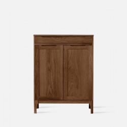 DANA Shoe Cabinet, 2-Door, W80, Walnut