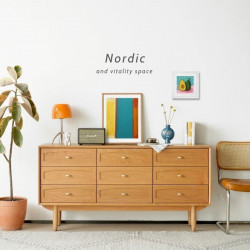 NADINE Chest of 9 Drawers, L160