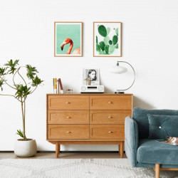NADINE Chest of 6 Drawers, L120