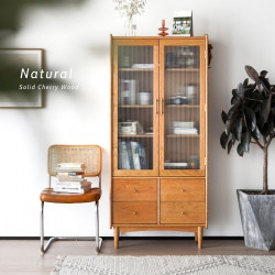 NADINE Bookshelf, Cherry, W80