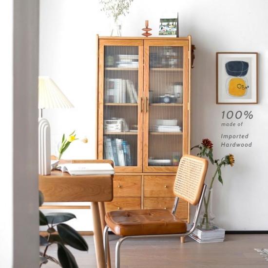 NADINE Bookshelf, Cherry, W80