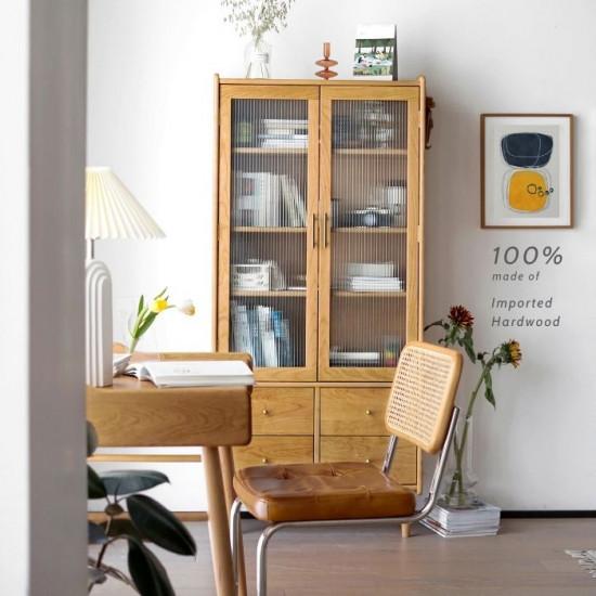 NADINE Bookshelf, Oak, W80