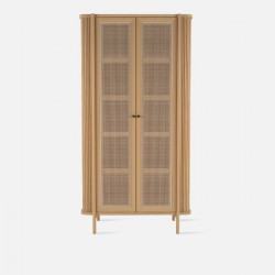Shelf with Rattan Door L90