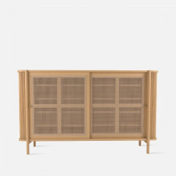 Sideboard with Rattan Door L160