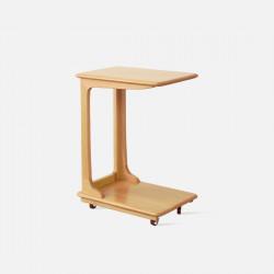 DOLCH C-shape side table, Oak