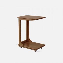 DOLCH C-shape side table, Walnut