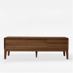 Handle TV Cabinet W150 / W160 / W180, Natural Walnut