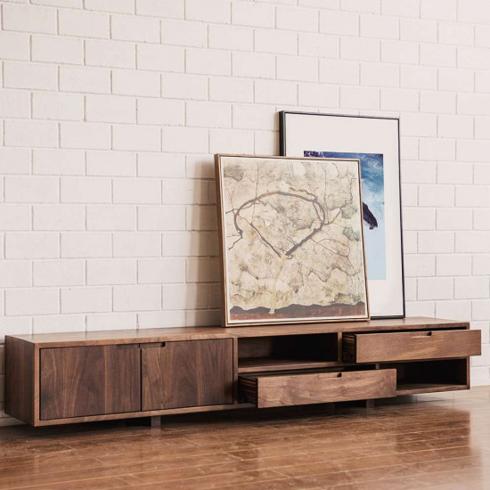 VINT TV Cabinet W200, Walnut