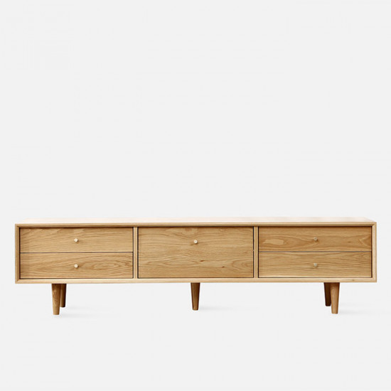 NOR TV Cabinet W150/180, Natural Oak
