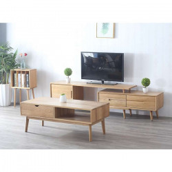 ZIPLINE Extend TV Cabinet W180-255, Natural Oak