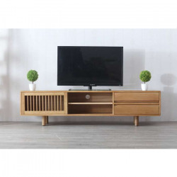 LINE TV Cabinet W180, Natural Oak