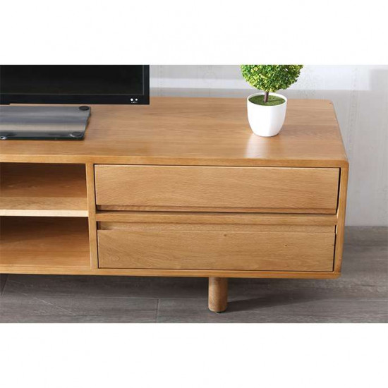 LINE TV Cabinet W180, Walnut Brown