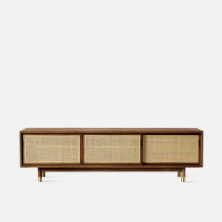 RATTAN TV Cabinet W180, Dark Walnut V.2
