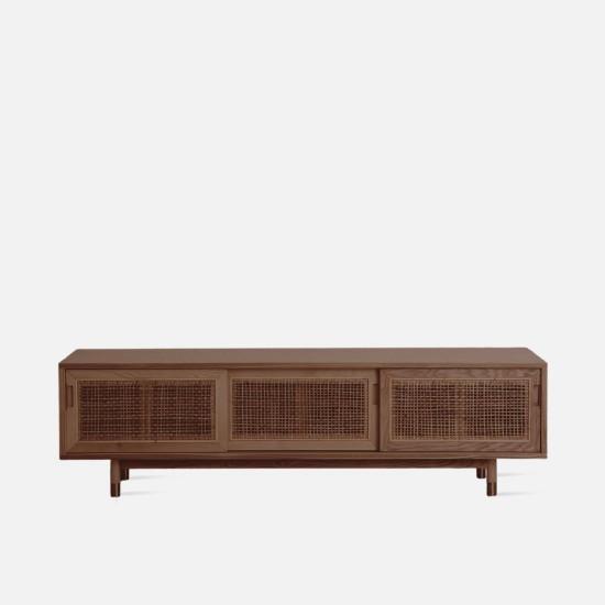 SEN RATTAN TV Cabinet L180, Dark Walnut V.2