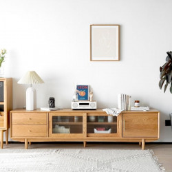 NADINE TV Cabinet, Cherry Wood L200