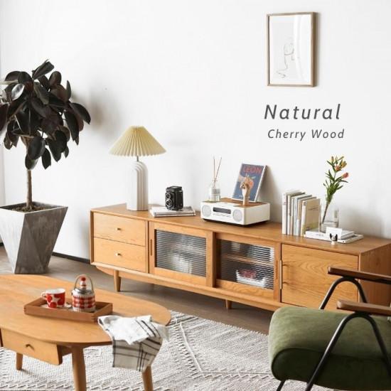 NADINE TV Cabinet, Cherry Wood L200