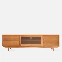NADINE TV Cabinet Single Glass, Cherry Wood L180
