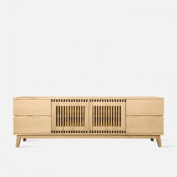 Linear Tv Stand, Natural Ash, L180