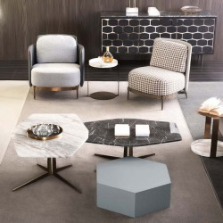 Polygon Marble Coffee Table
