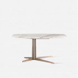 Polygon Marble Coffee Table, White