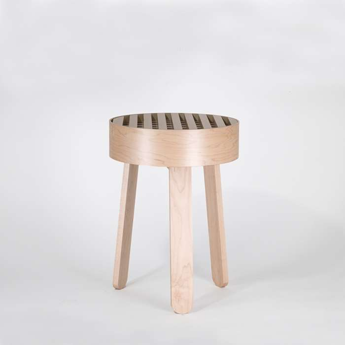 TRELLIS side table - Maple