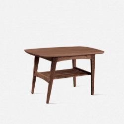 Danish Coffee Table L75, Walnut