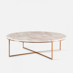 NOVA Natural Marble Coffee Table, White [In Stock]