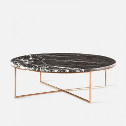 NOVA Natural Marble Coffee Table, Grey