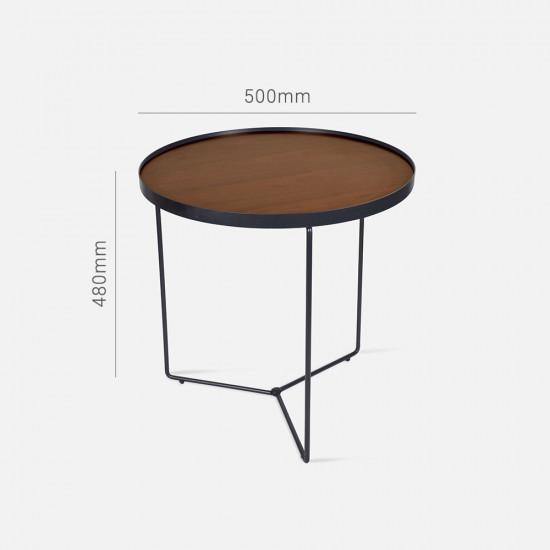 NOVA MDF Walnut veneer Coffee Table Set