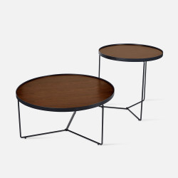 NOVA MDF Walnut veneer Coffee Table Set