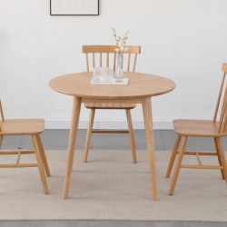[SALE] Solid Oak Round Table, Walnut